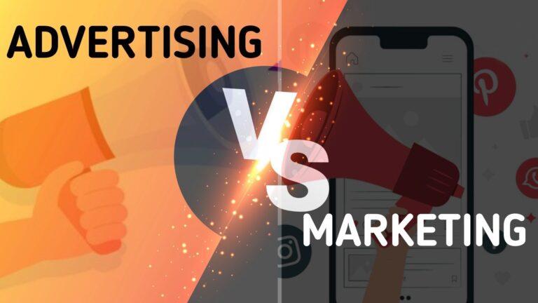 Advertising vs Marketing.