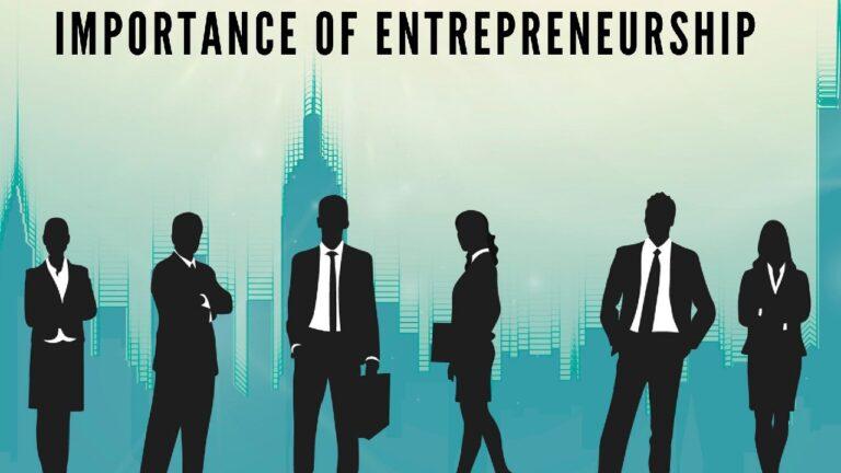Importance of Entrepreneurship