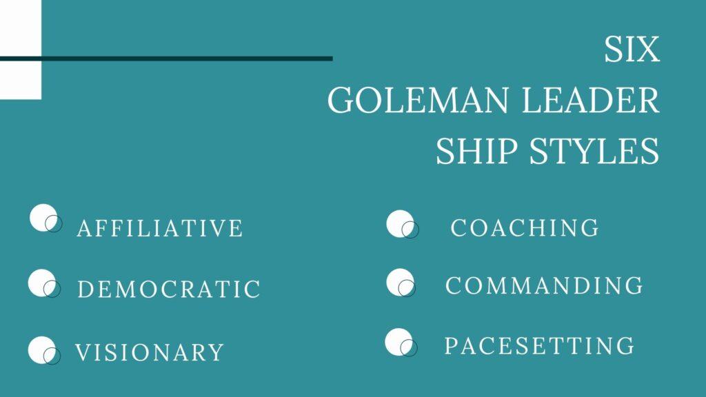 Goleman's Six Leadership Styles
